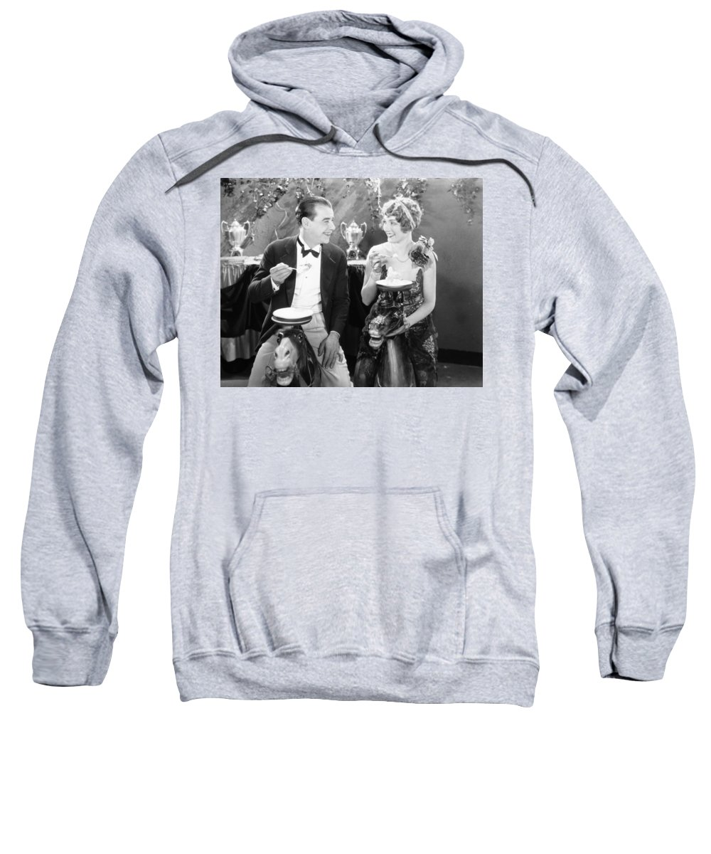 -eating & Drinking- Sweatshirt featuring the photograph White Pants Willie, 1927 by Granger