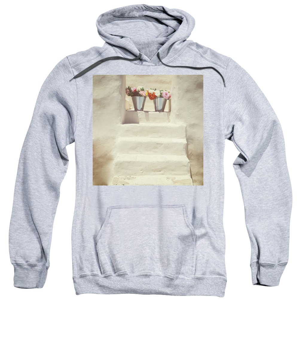 House Sweatshirt featuring the photograph White Steps by Joana Kruse
