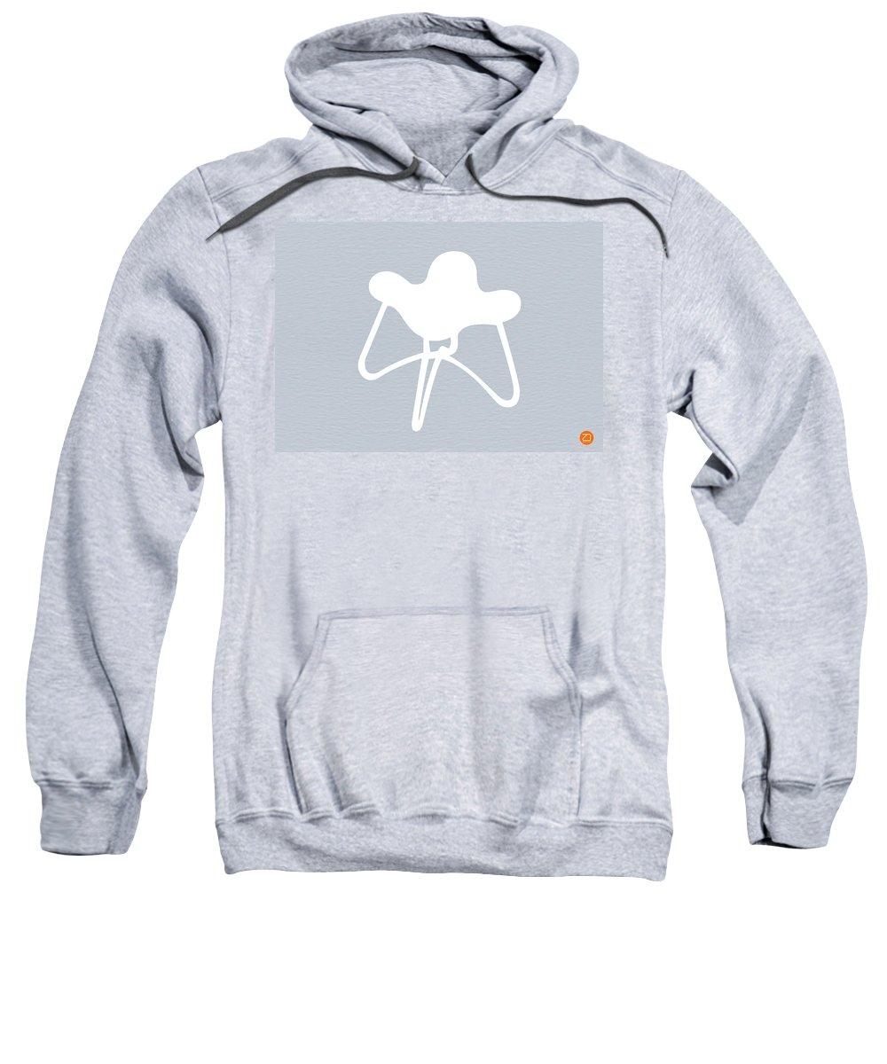 Sweatshirt featuring the mixed media White Stool by Naxart Studio