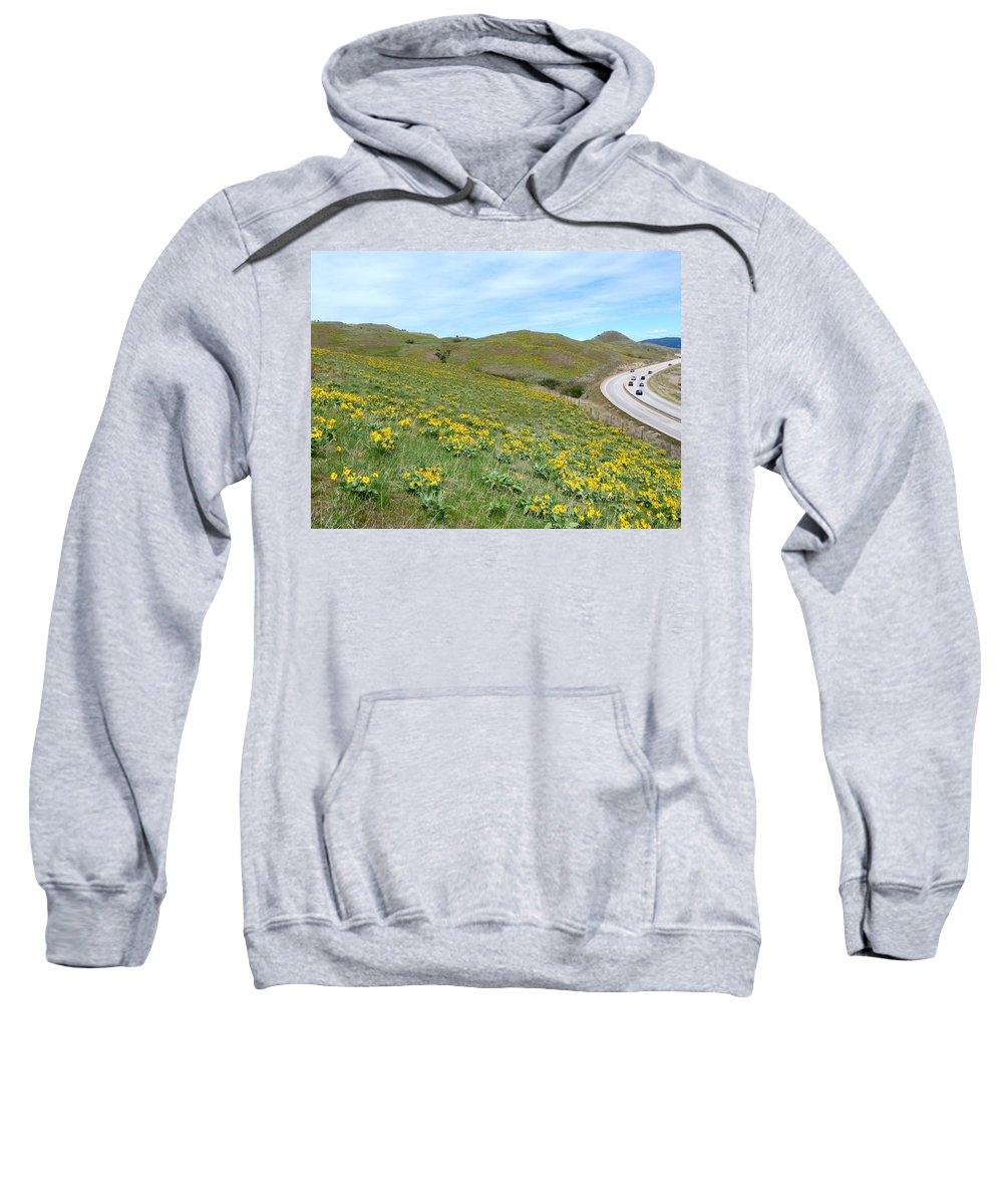 Wild Sunflowers Sweatshirt featuring the photograph Wild Sunflowers 2 by Will Borden