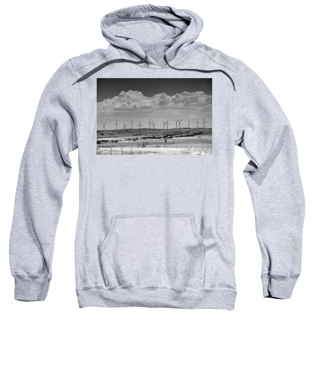Aerogenerator Sweatshirt featuring the photograph Wind Farm II by Ricky Barnard