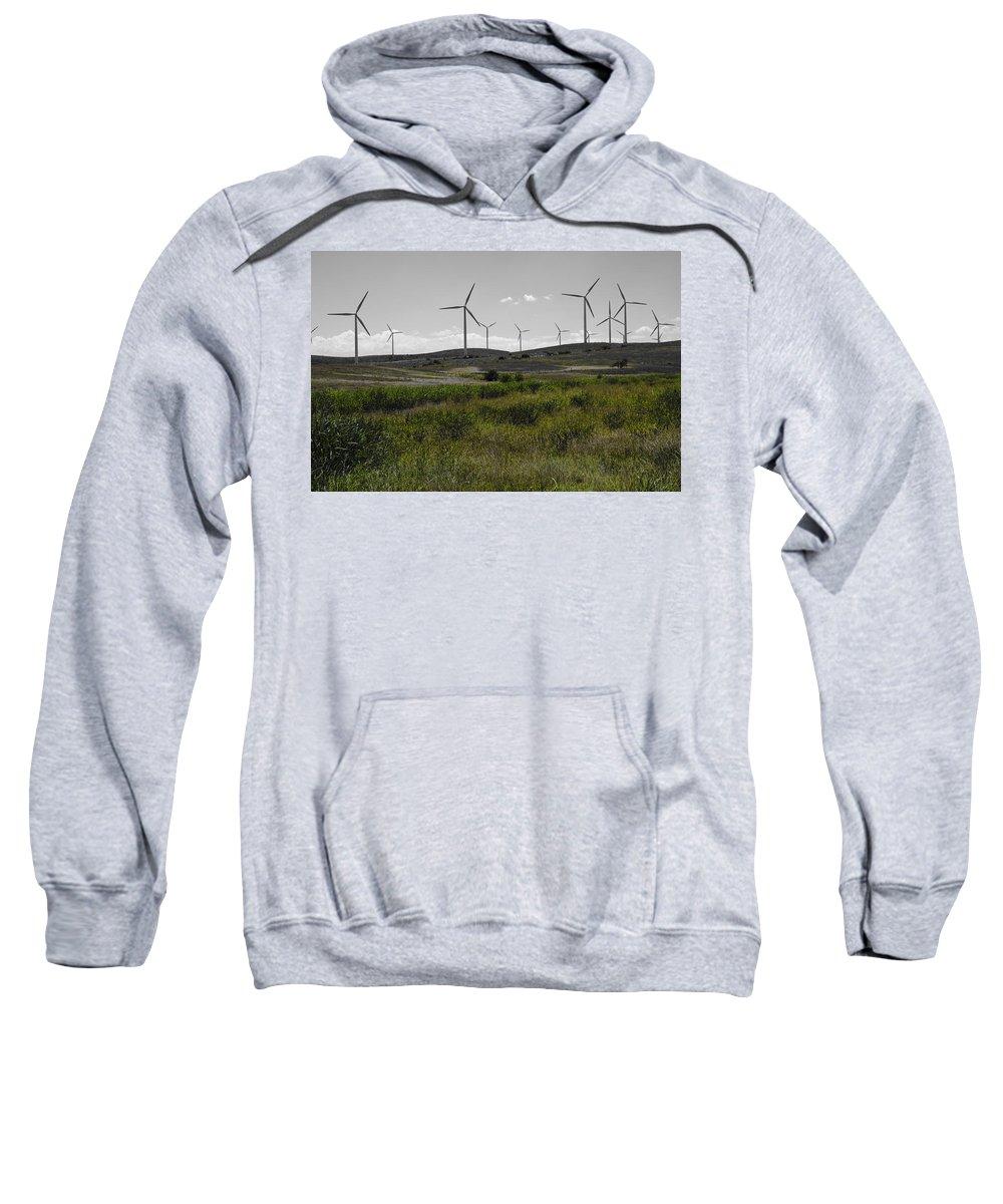 Aerogenerator Sweatshirt featuring the photograph Wind Farm Iv by Ricky Barnard
