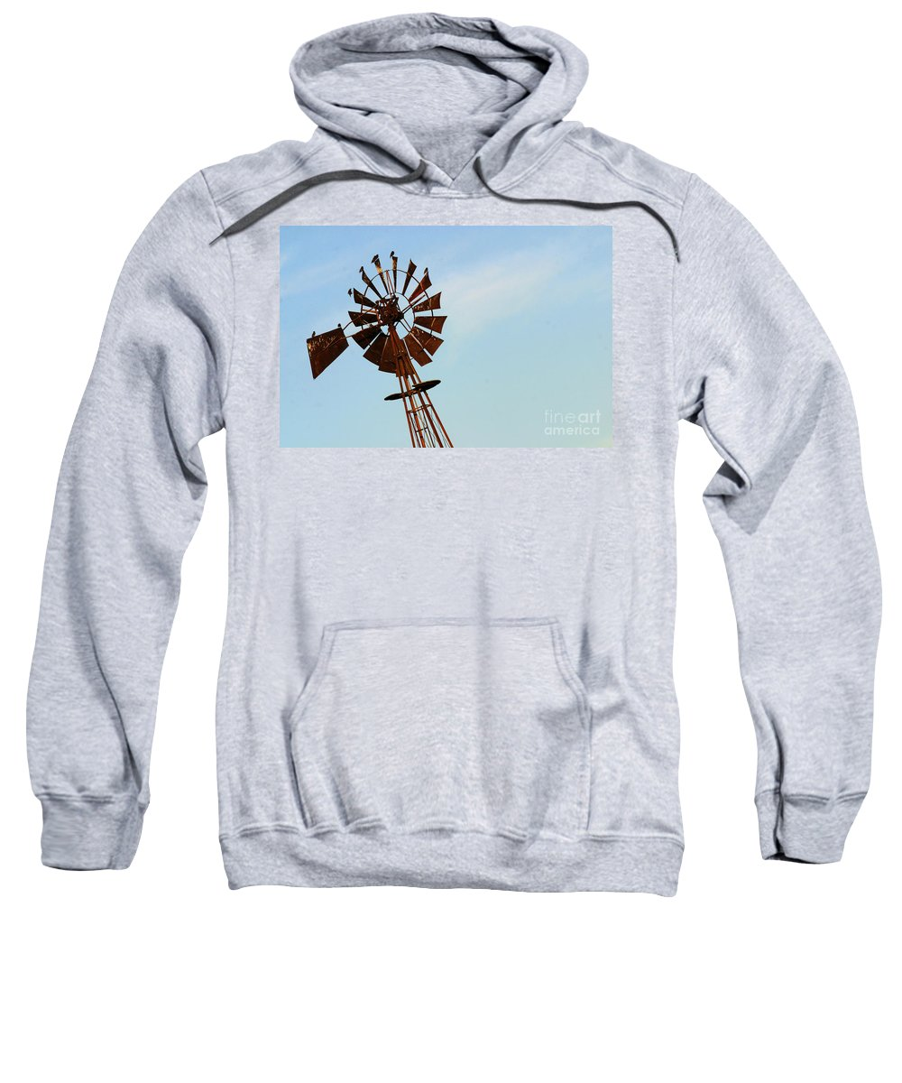 Agriculture Sweatshirt featuring the photograph Windmill-3667 by Gary Gingrich Galleries