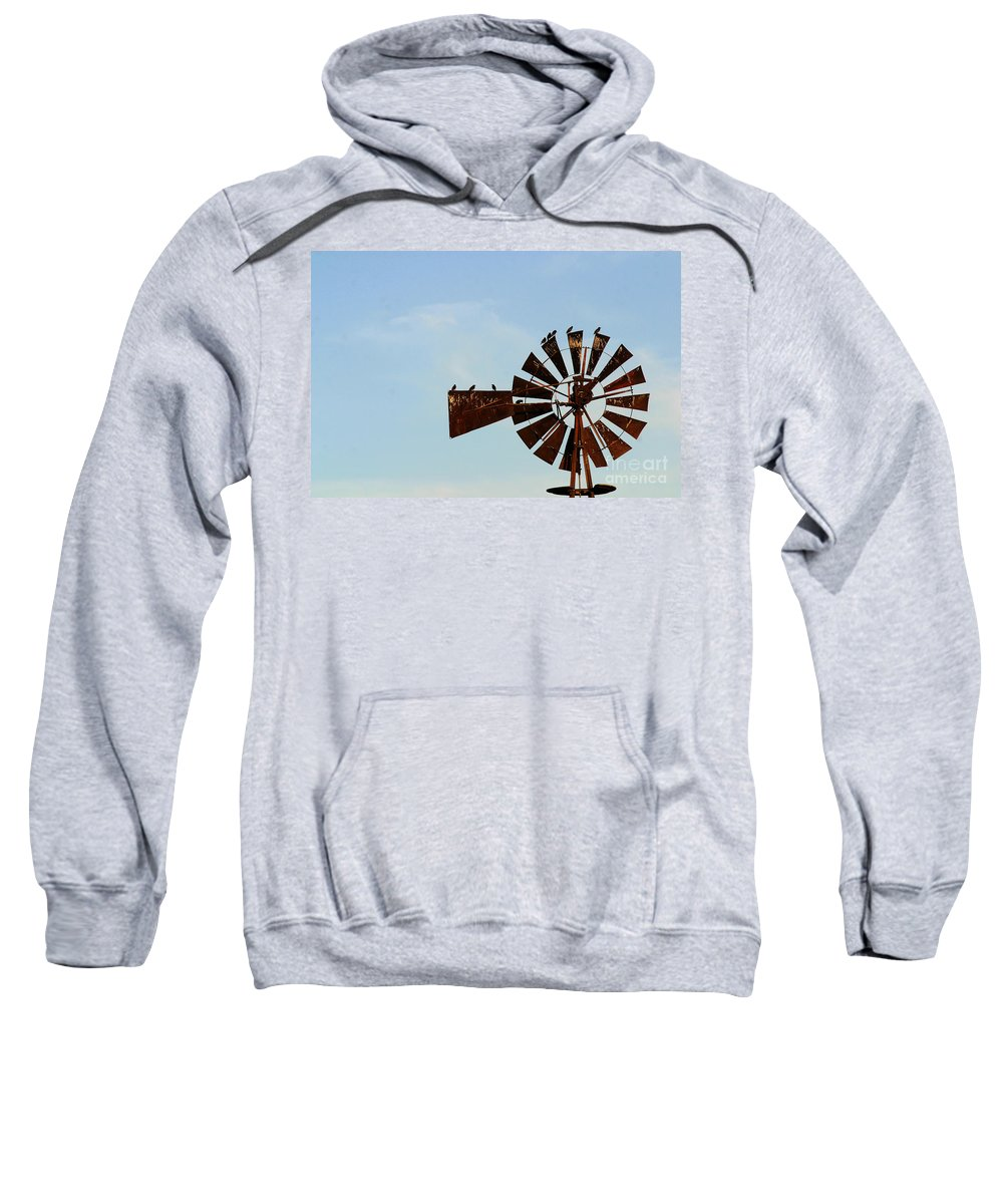 Agriculture Sweatshirt featuring the photograph Windmill-3772 by Gary Gingrich Galleries
