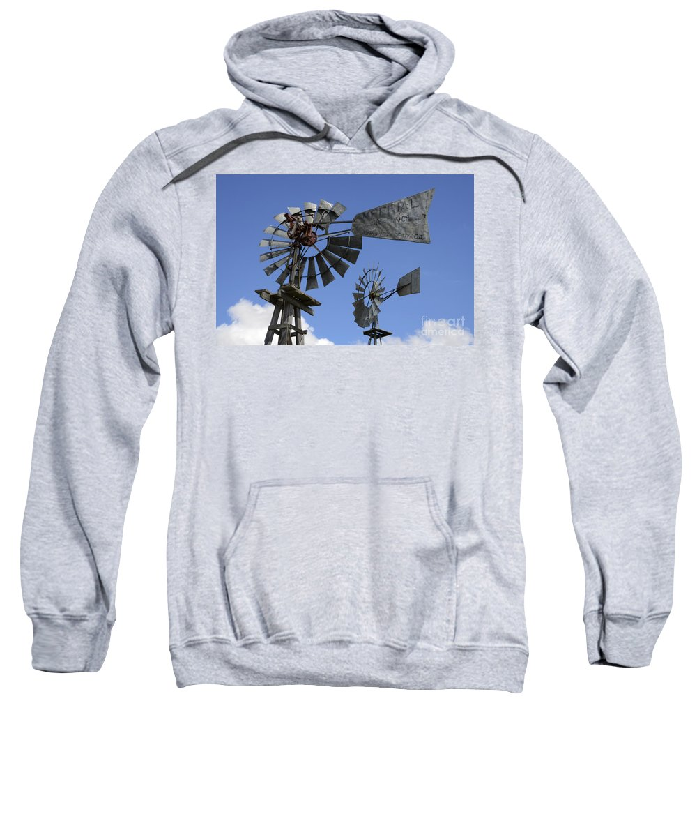 Windmill Sweatshirt featuring the photograph Windmills 3 by Bob Christopher