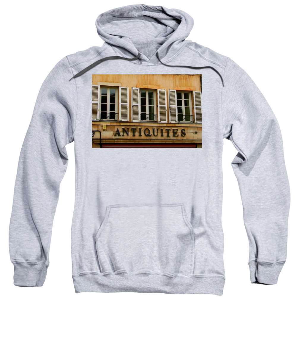 Antiquites Sweatshirt featuring the photograph Windows Of Antiquites by Laurel Talabere