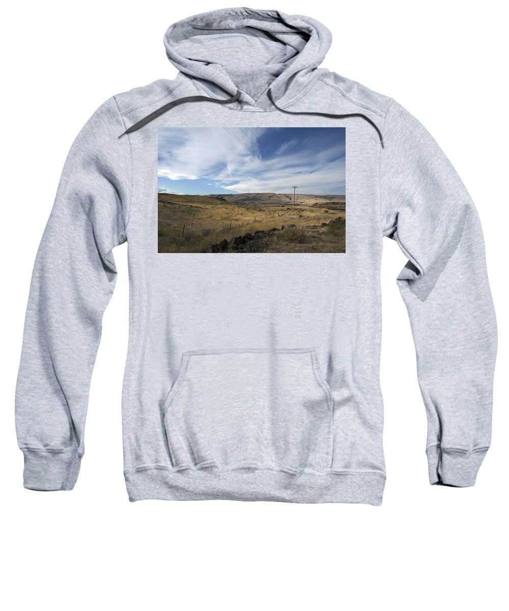 Landscape Sweatshirt featuring the photograph Windswept Hills by Kathleen Grace