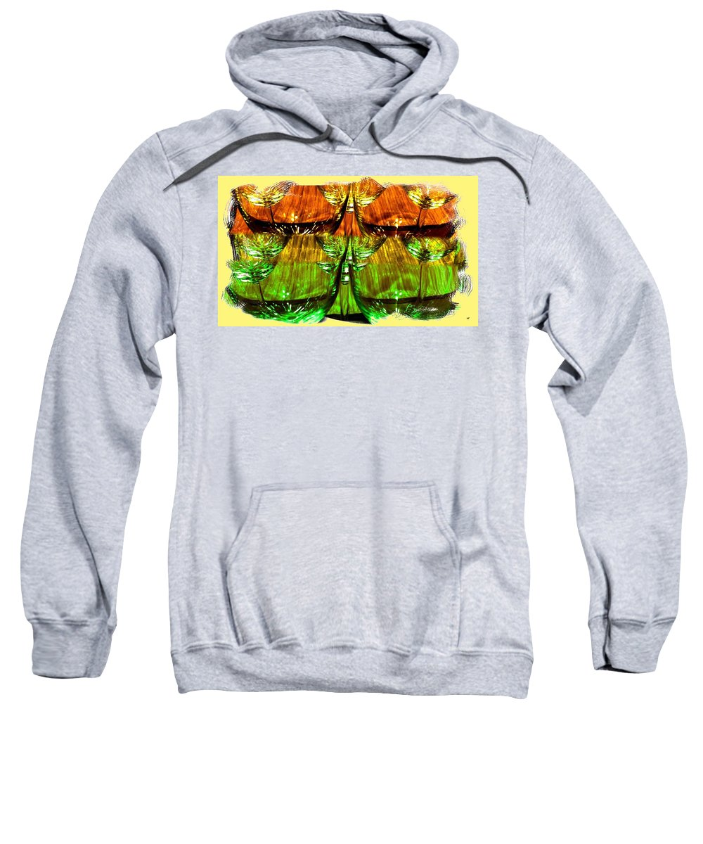 Wine Glasses Sweatshirt featuring the digital art Wine And Dine 2 by Will Borden