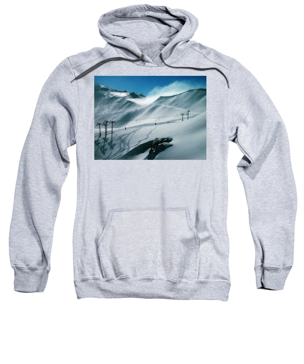 Colette Sweatshirt featuring the photograph Winter In Austria by Colette V Hera Guggenheim