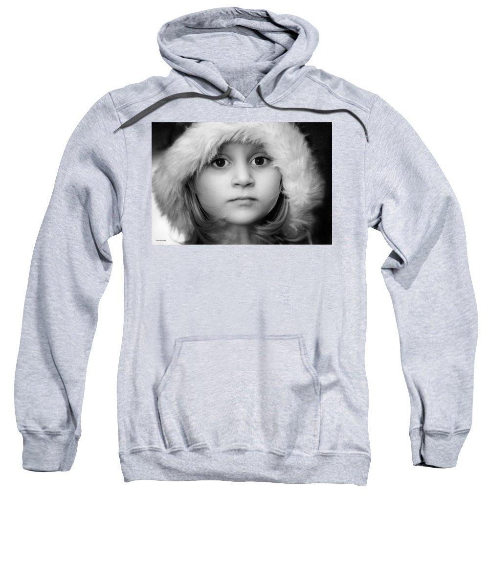 Portrait Sweatshirt featuring the photograph Winter Sprite by Ron Jones