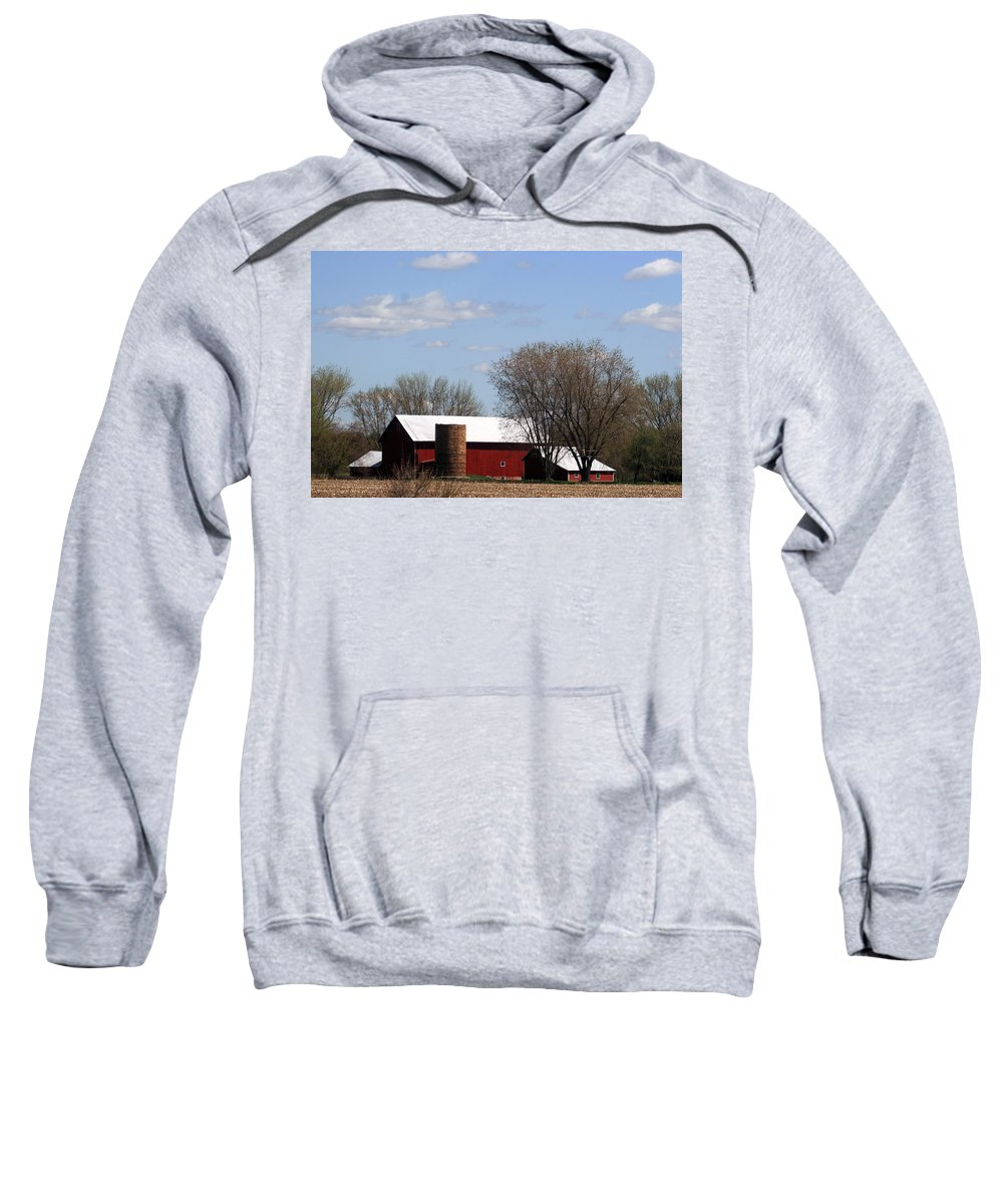 Wisconsin Sweatshirt featuring the photograph Wisconsin Farm by Kay Novy