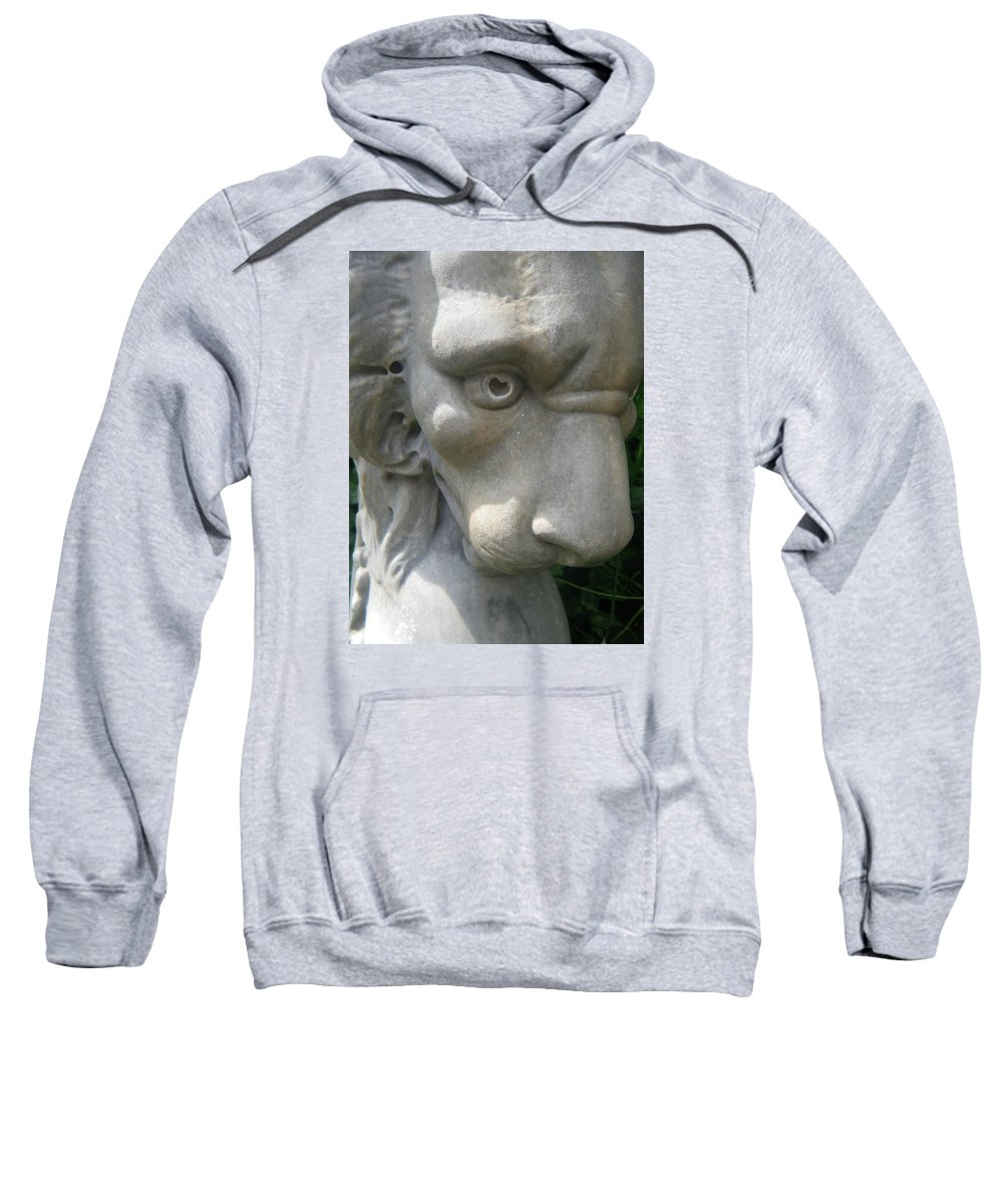 Lion Sweatshirt featuring the photograph With Love In His Eyes by April Patterson