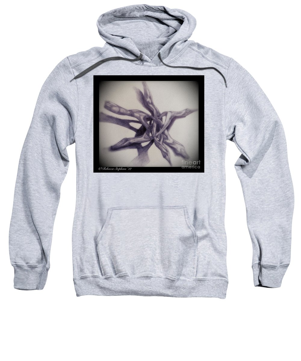 Rebecca Stephens Sweatshirt featuring the painting Wooden Puzzle by Rebecca Stephens