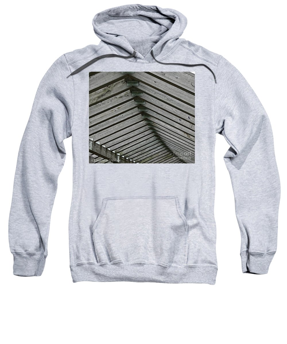 Wood Sweatshirt featuring the photograph Wooden Ribs by Susan Herber