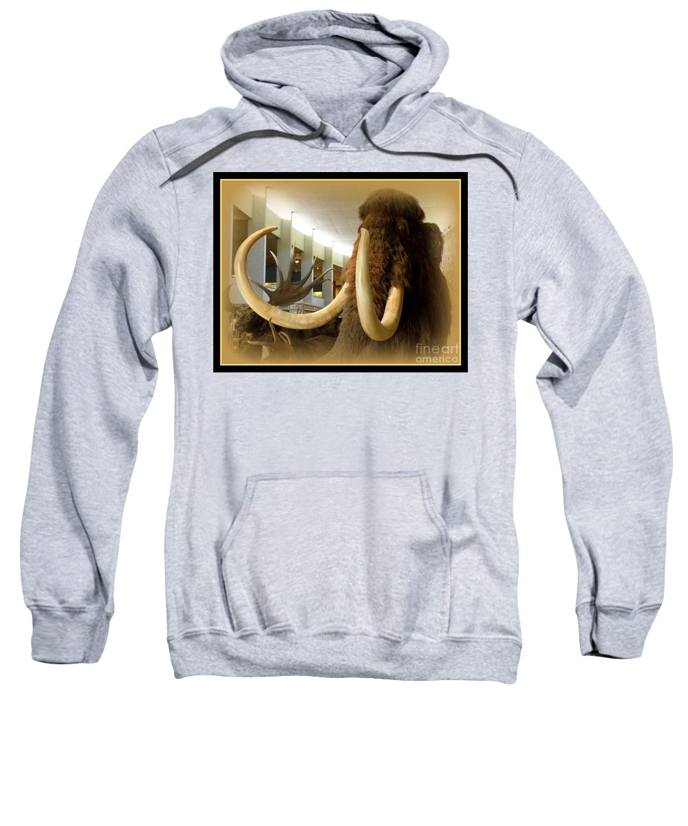 Wooly Mammoth Sweatshirt featuring the photograph Wooly Mammoth by Lainie Wrightson