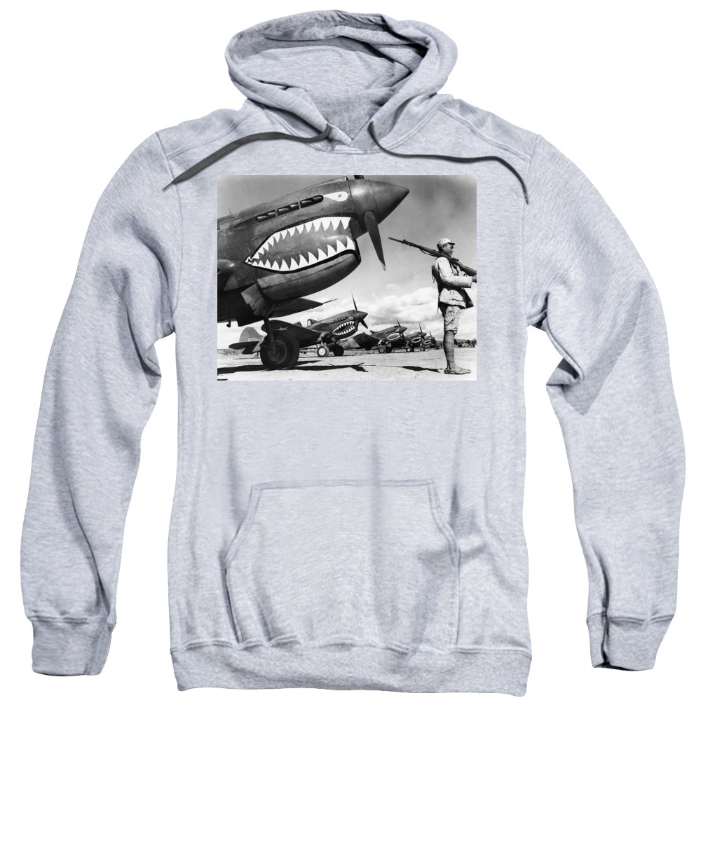 1943 Sweatshirt featuring the photograph World War II: China, 1943 by Granger