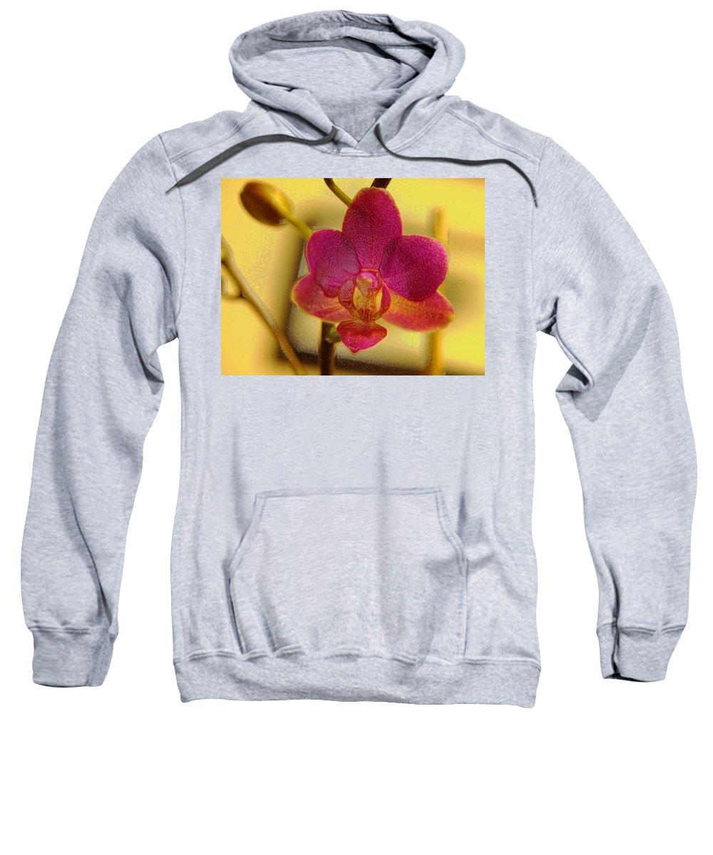 Flower Sweatshirt featuring the digital art Wrapped In Plastic by Teri Schuster
