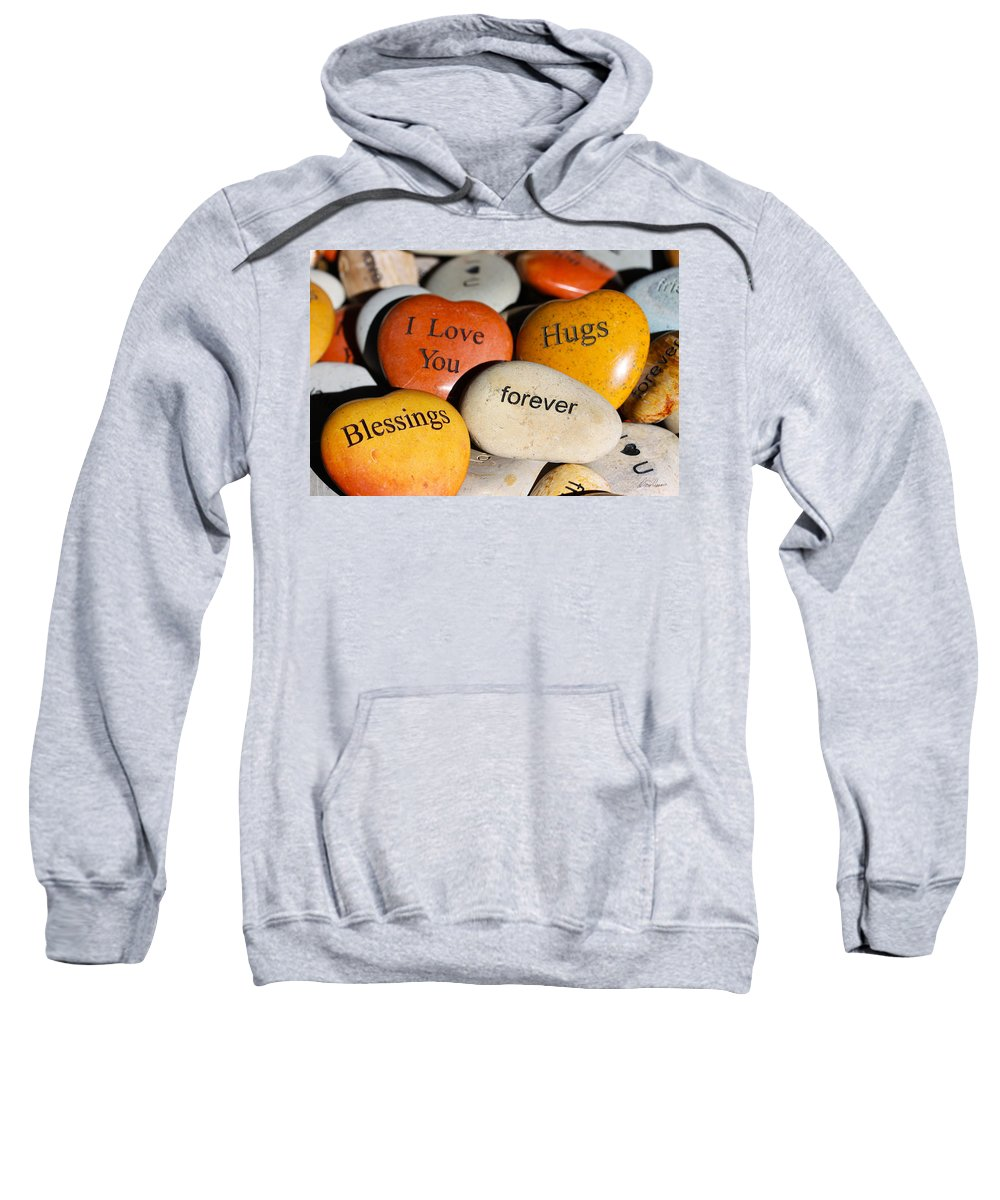 Rocks Sweatshirt featuring the photograph Written In Stone by Diana Haronis