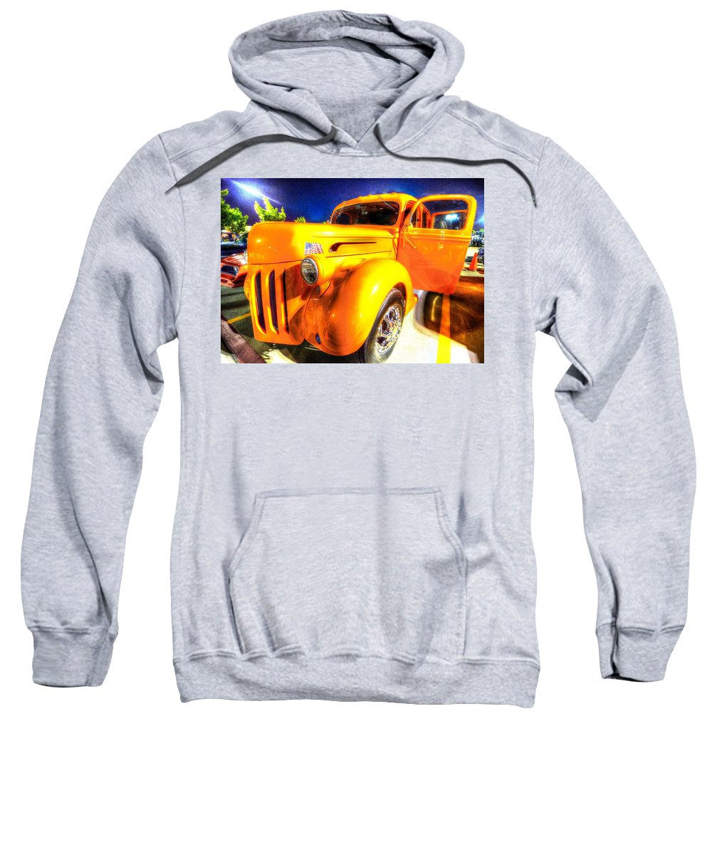 Truck Sweatshirt featuring the photograph Yellow Truck 2 by David Morefield