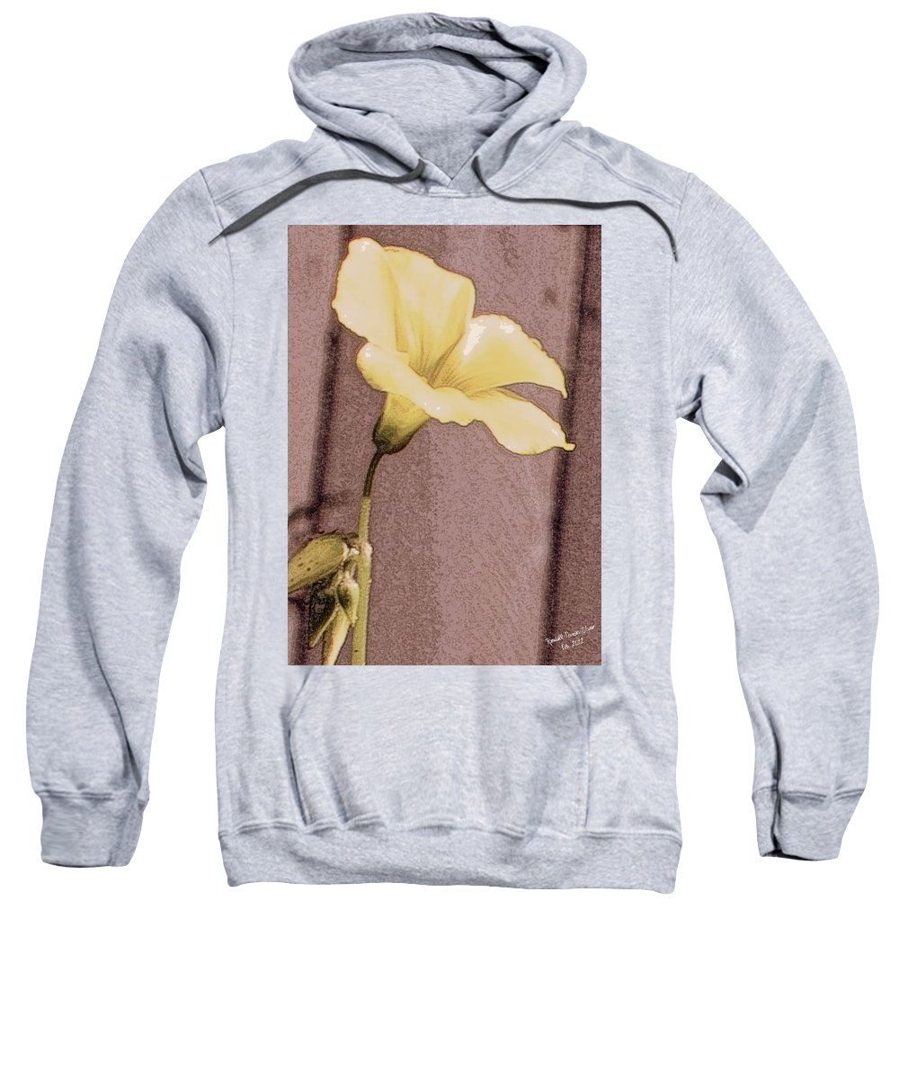 Flower Sweatshirt featuring the photograph Yellow Wood Sorrel by Randall Thomas Stone