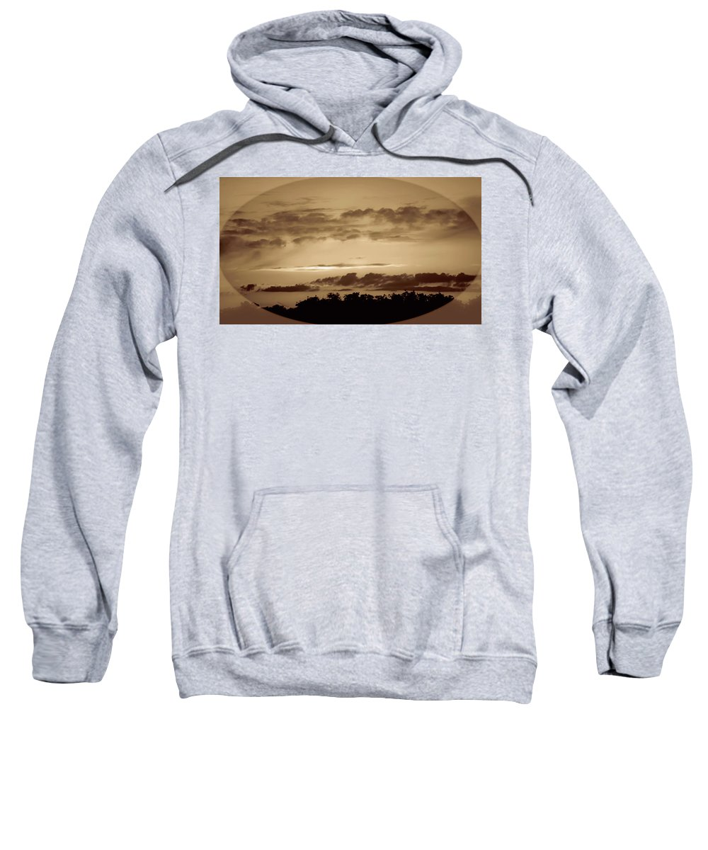 Sunset Sweatshirt featuring the photograph Yesteryears Sunset by DigiArt Diaries by Vicky B Fuller