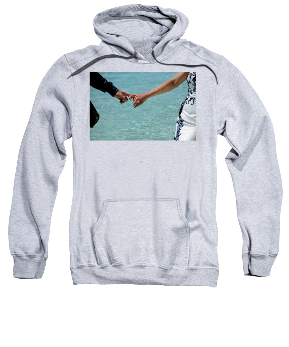 Love Sweatshirt featuring the photograph You And Me. Togetherness by Jenny Rainbow