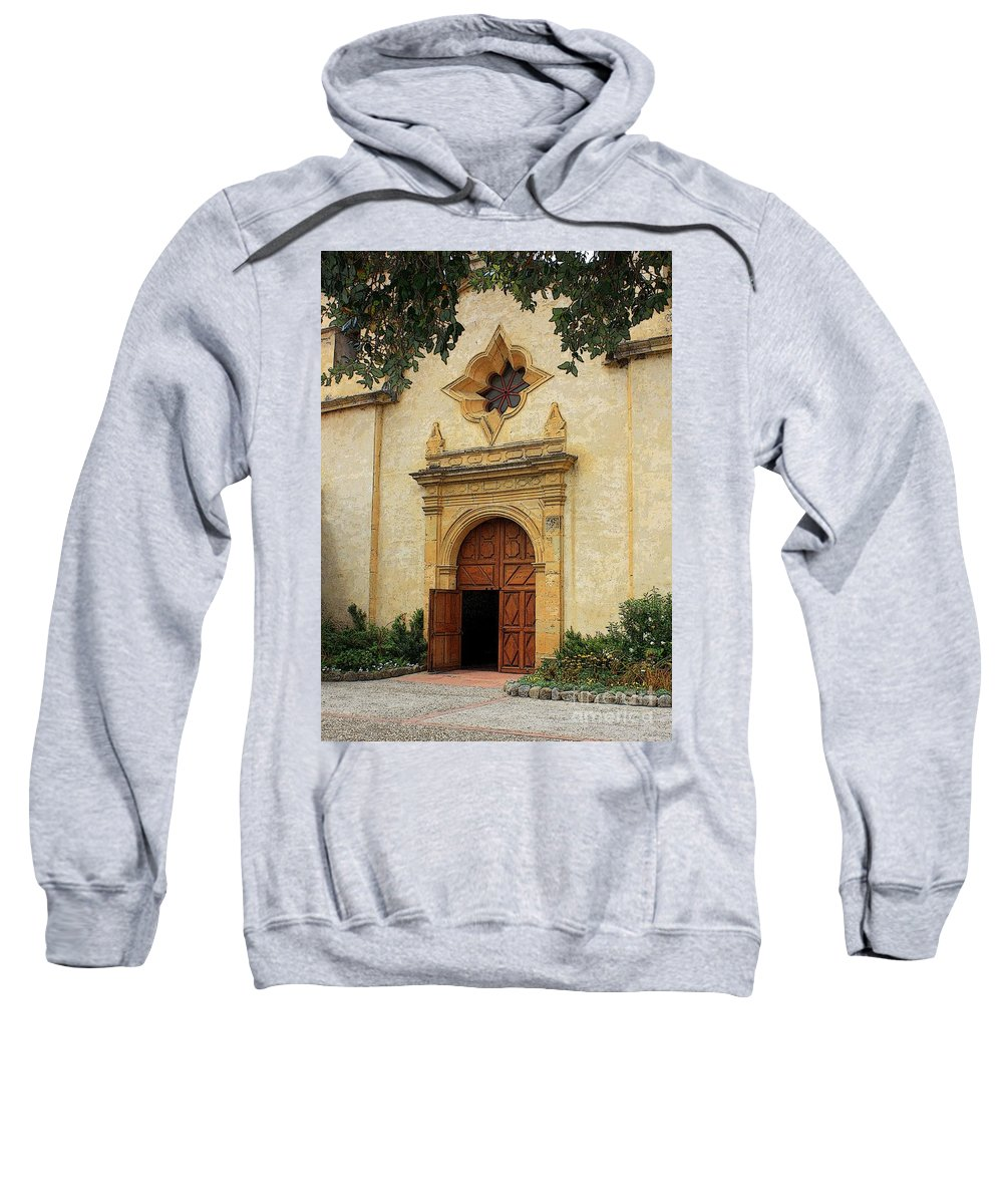 Welcoming Sweatshirt featuring the photograph You Are Welcome Here by Carol Groenen