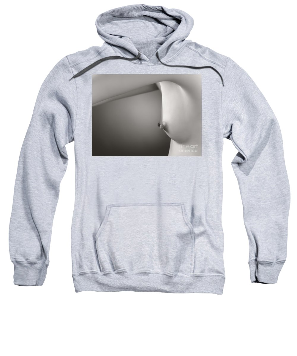 Breasts Sweatshirt featuring the photograph Young Woman Breast by Oleksiy Maksymenko