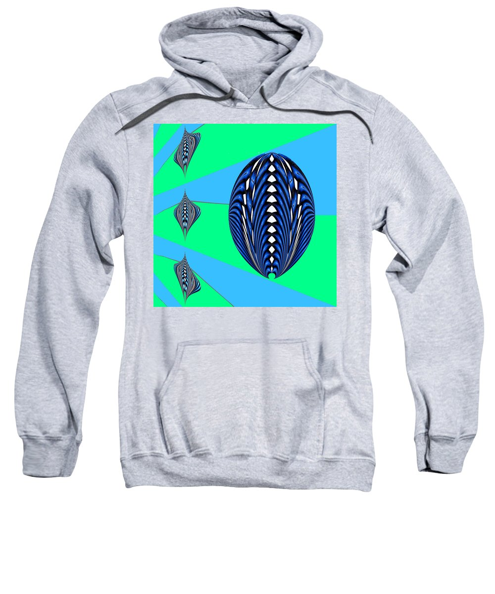 Digital Sweatshirt featuring the digital art Zeon Mom And Kids by Theodore Jones