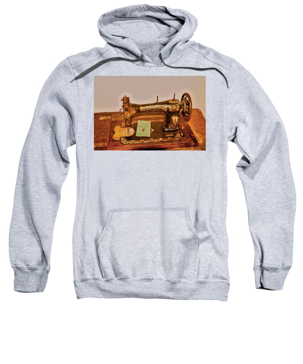 Singer Sweatshirt featuring the photograph A Stitch In Time by Jim Markiewicz