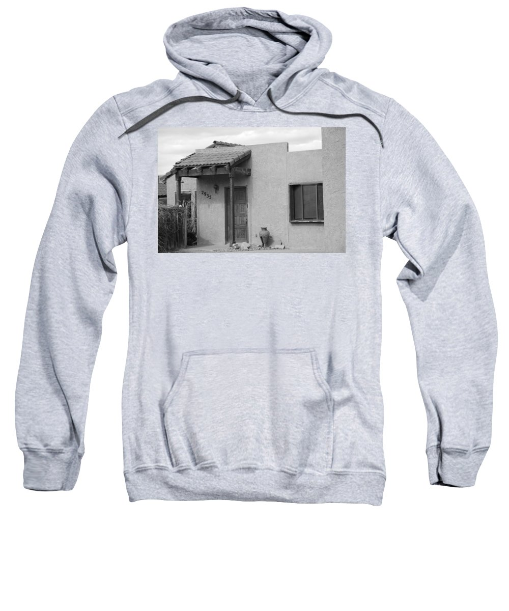 Architecture Sweatshirt featuring the photograph Adobe House by Rob Hans