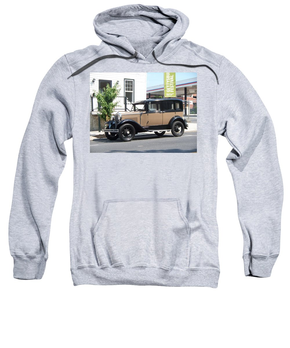 Transportation Sweatshirt featuring the painting Antique Car by Eric Schiabor