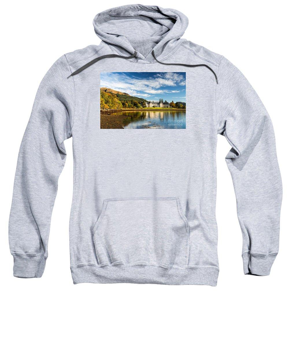 Autumn Sweatshirt featuring the photograph Ardgartan On The Banks Of Loch Long by Richard Burdon
