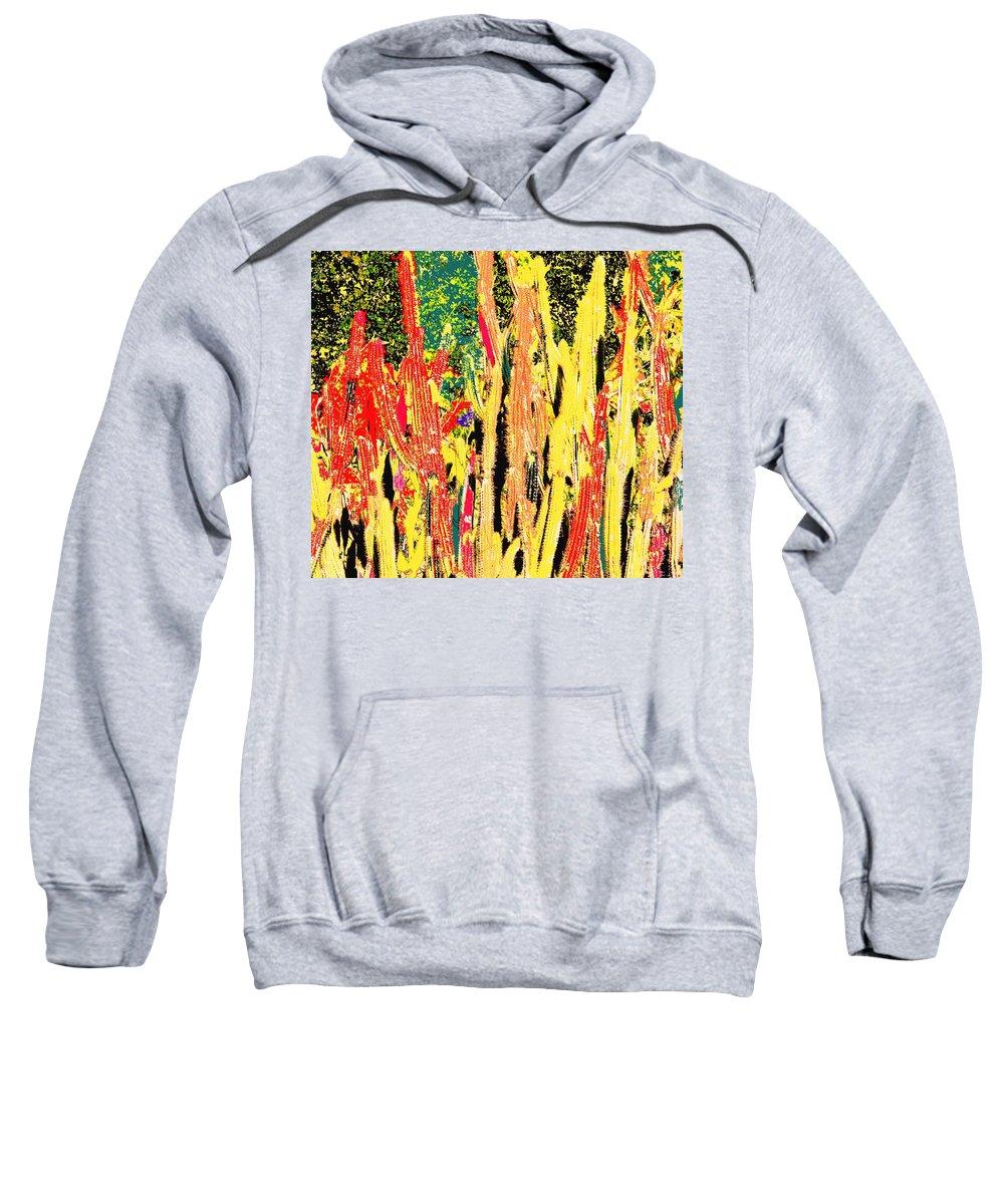 Cactus Sweatshirt featuring the digital art Bridgestone Cacti by Ian MacDonald