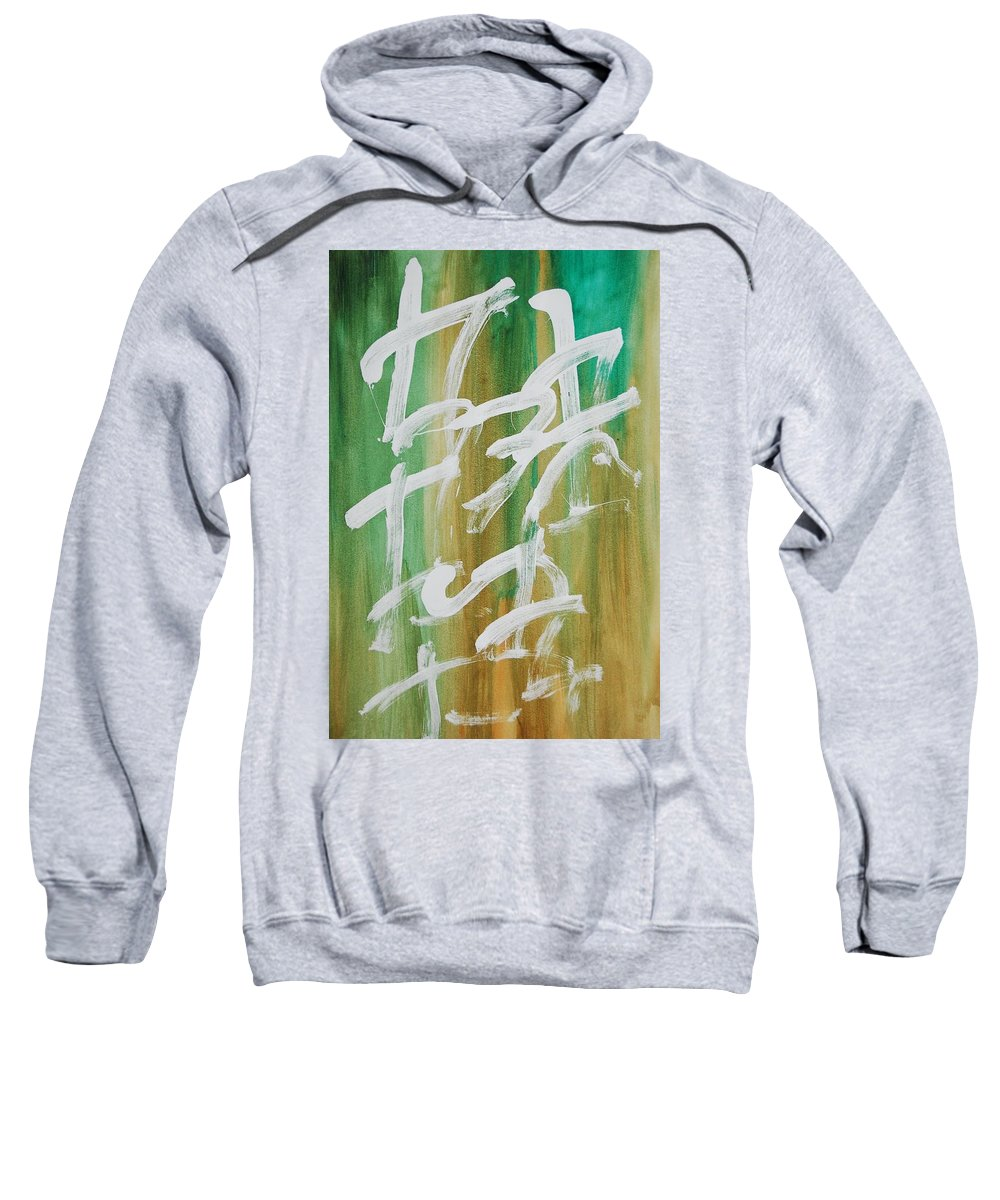 Chinese Sweatshirt featuring the painting Chinese Numbers by Lauren Luna