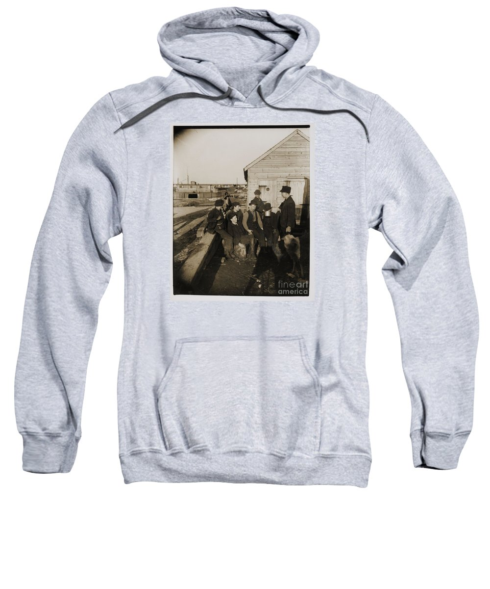 The Mongomery Guards (a Growler Gang) Sweatshirt featuring the painting Jacob Riis by MotionAge Designs