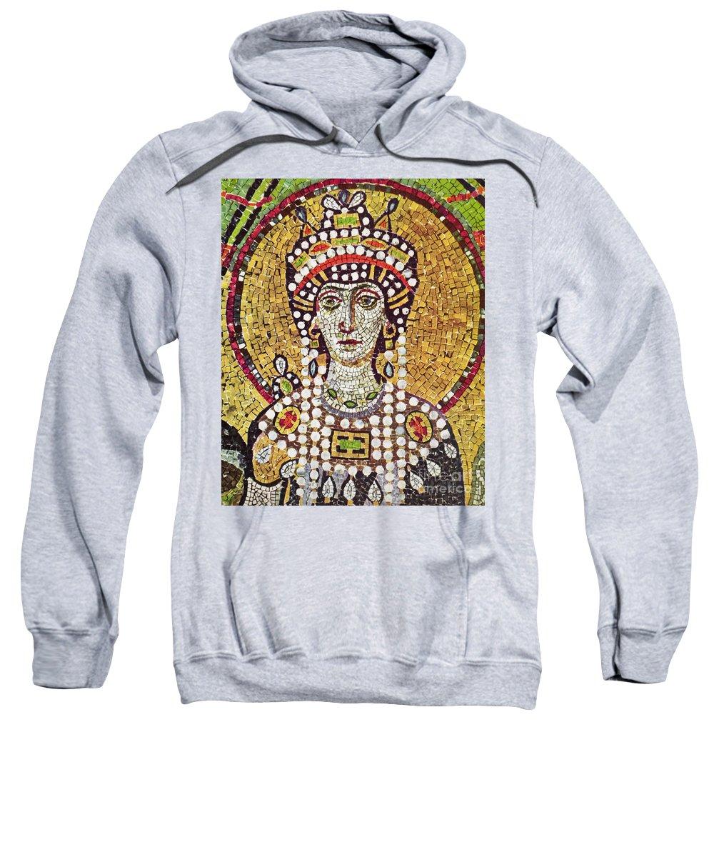 6th Century Sweatshirt featuring the painting Theodora (c508-548) by Granger