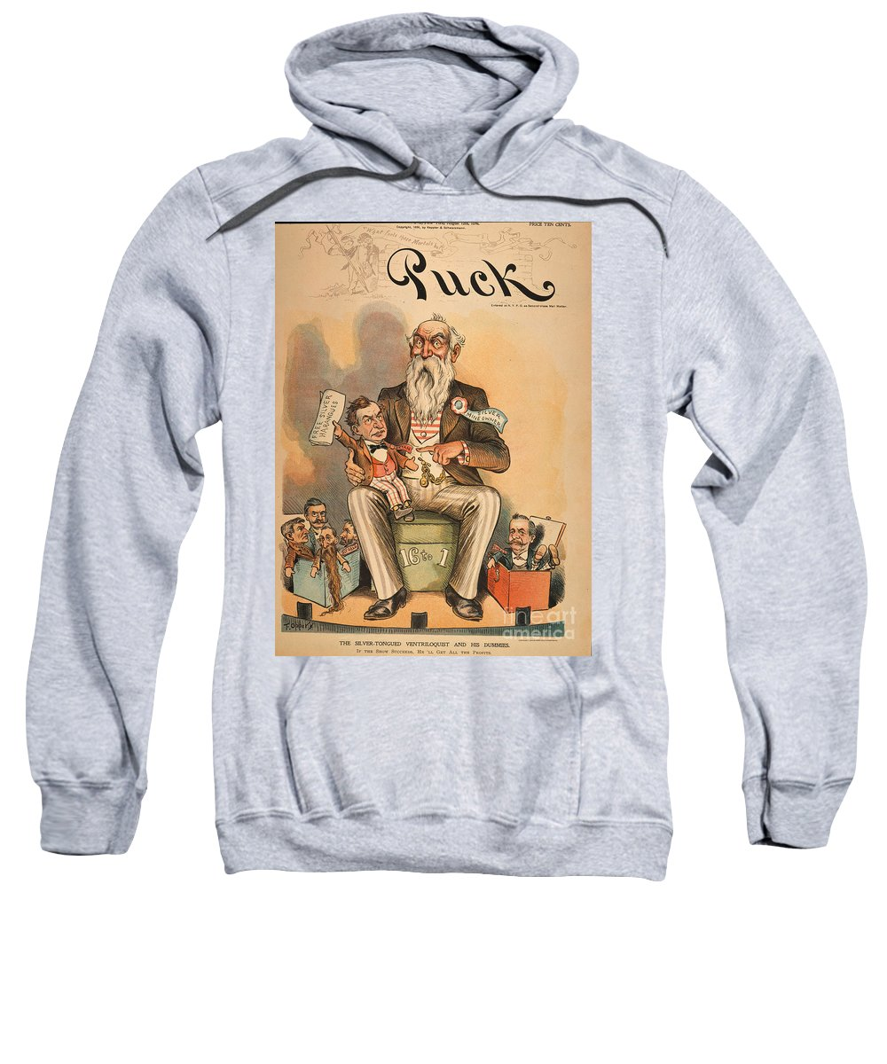 1896 Sweatshirt featuring the painting William Jennings Bryan by Granger