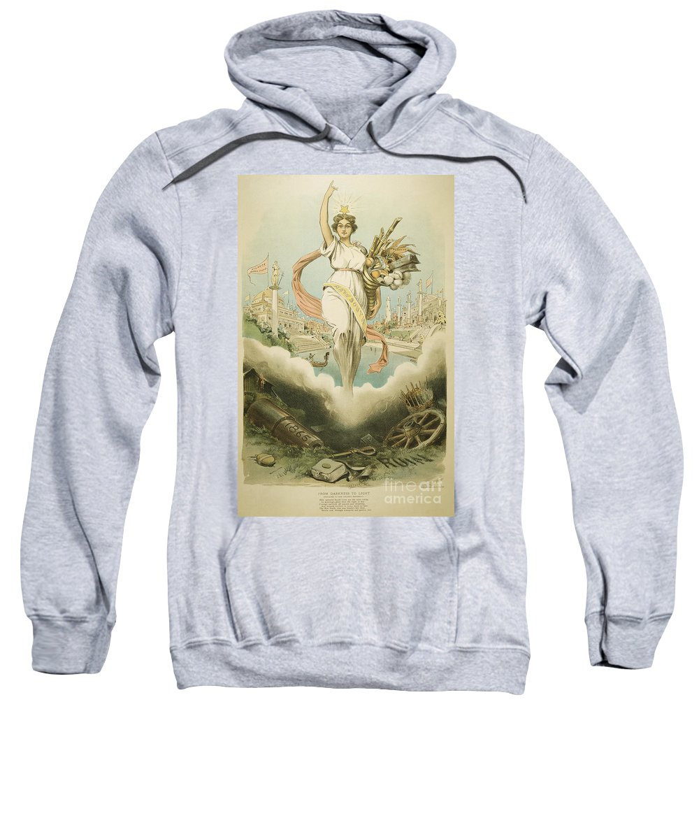 1895 Sweatshirt featuring the painting Atlanta Exposition, 1895 by Granger