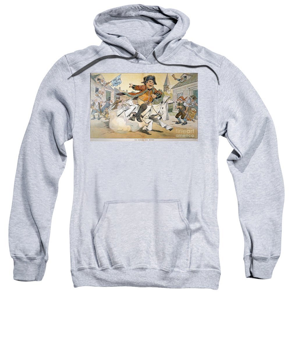 1904 Sweatshirt featuring the painting Populist Party Cartoon by Granger