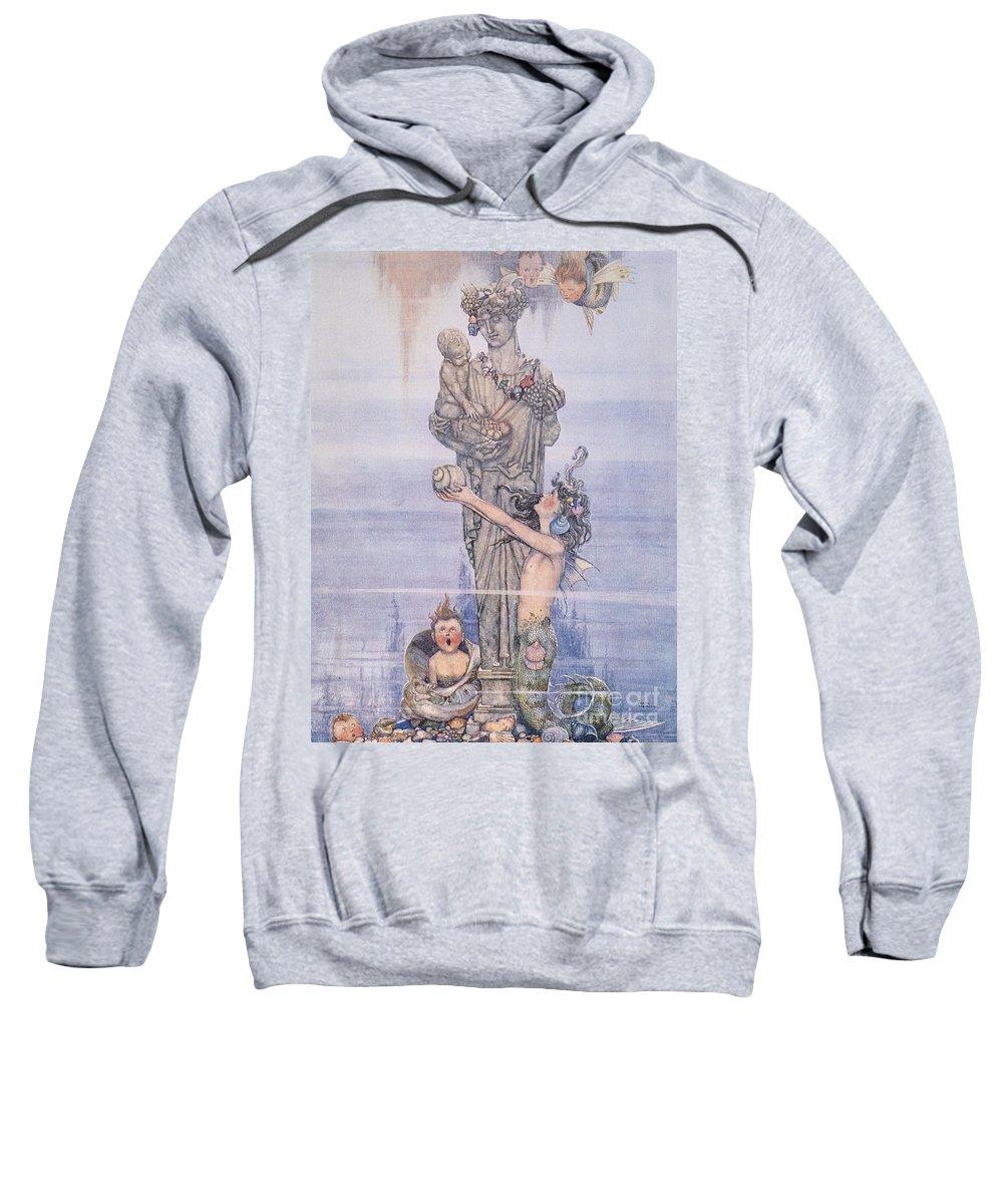 1913 Sweatshirt featuring the painting Andersen: Little Mermaid by Granger