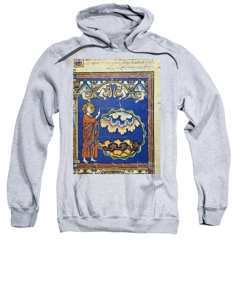 1250s Sweatshirt featuring the painting Day Two Of Creation by Granger