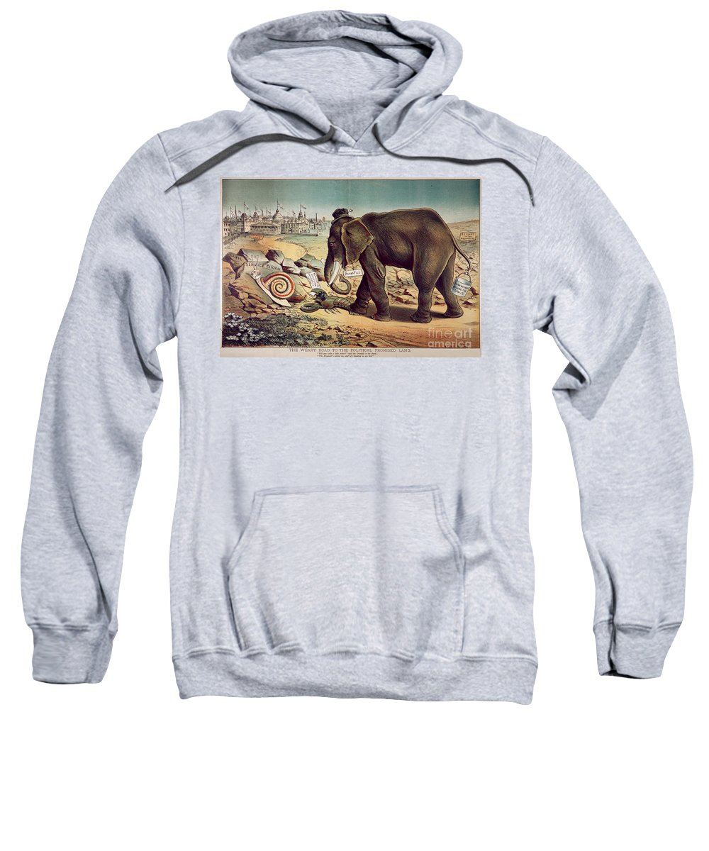 1885 Sweatshirt featuring the painting Office Seekers 1885 by Granger