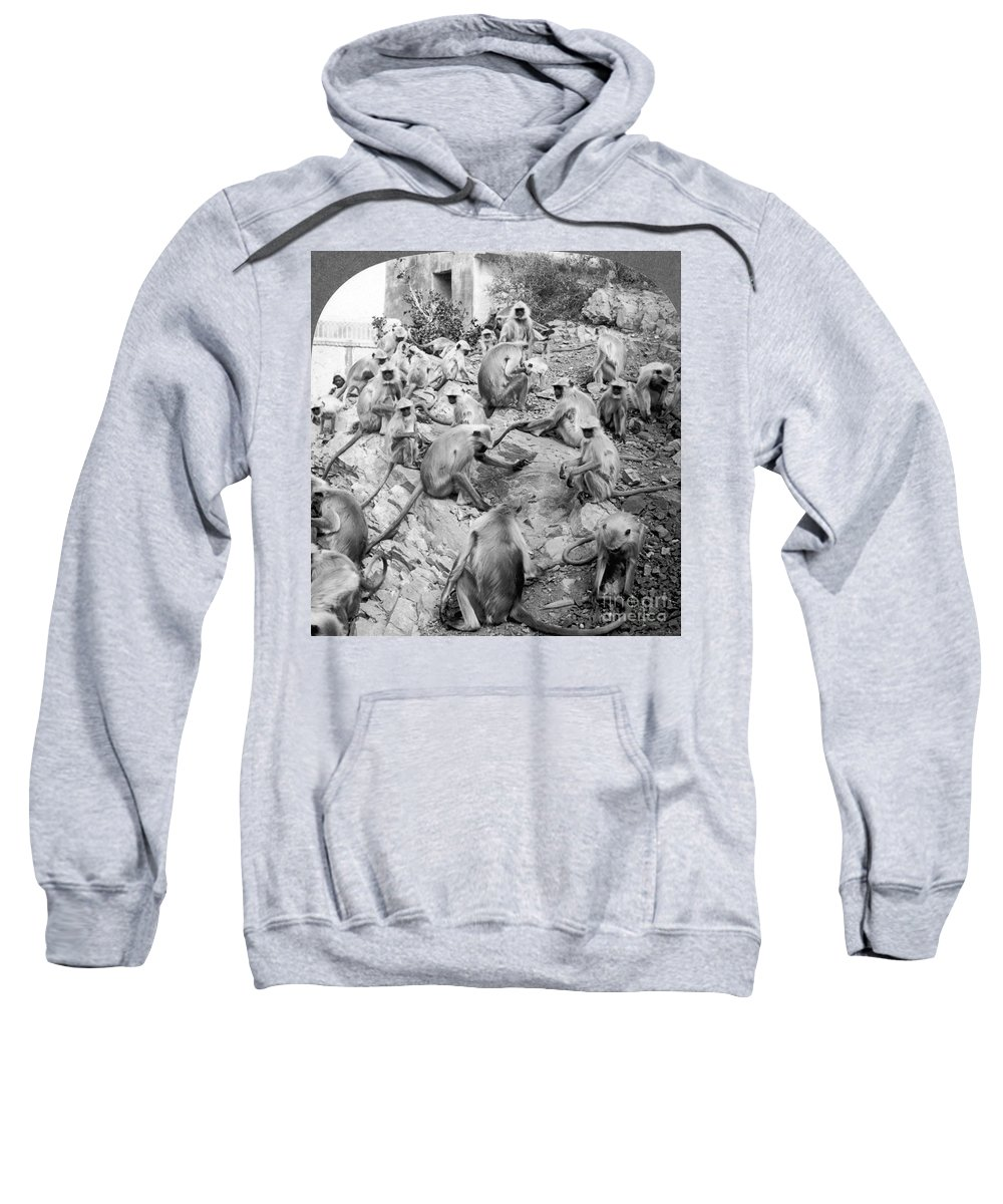 20th Century Sweatshirt featuring the painting India: Monkey Temple by Granger