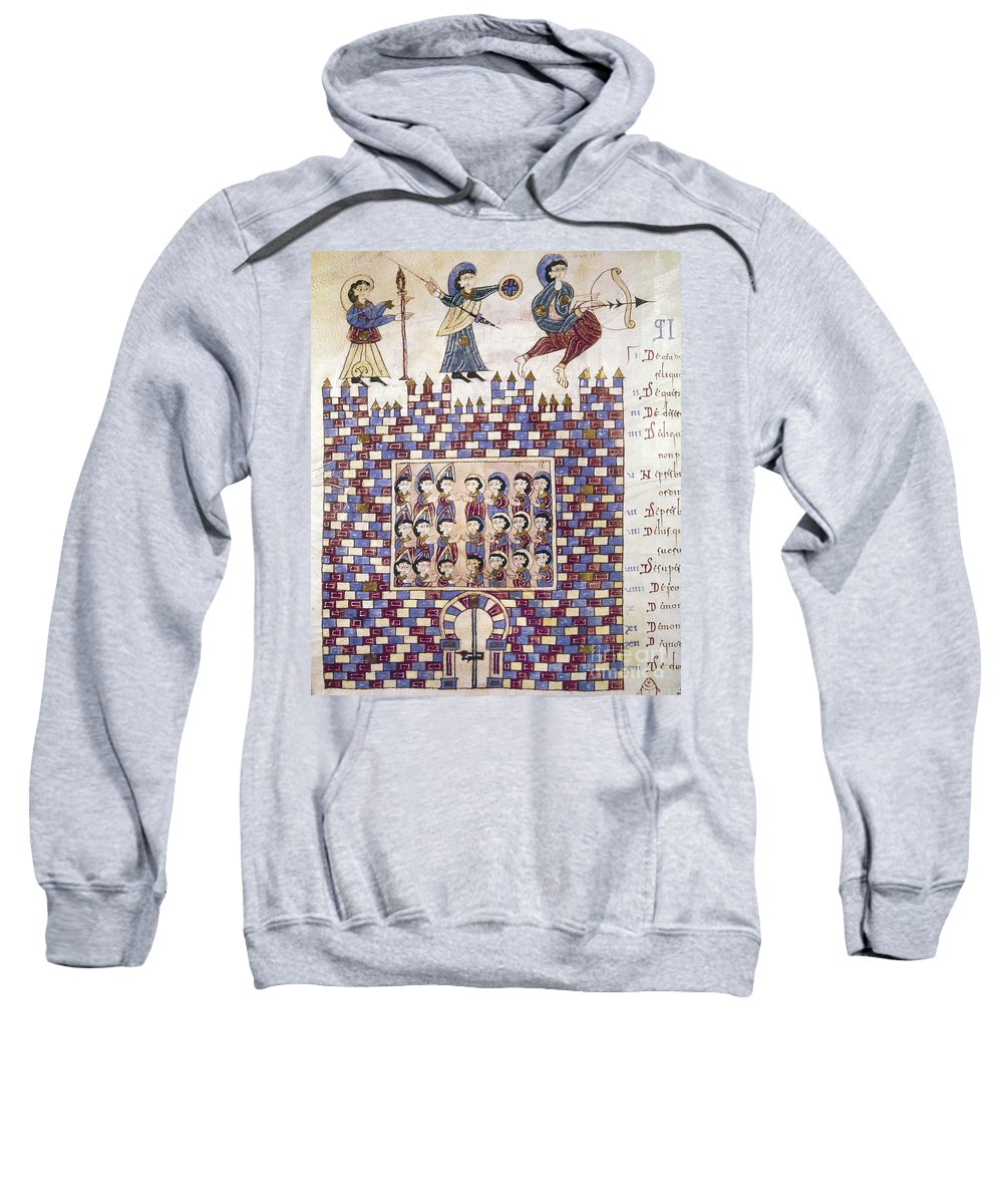 10th Century Sweatshirt featuring the painting Spain: Reconquest by Granger