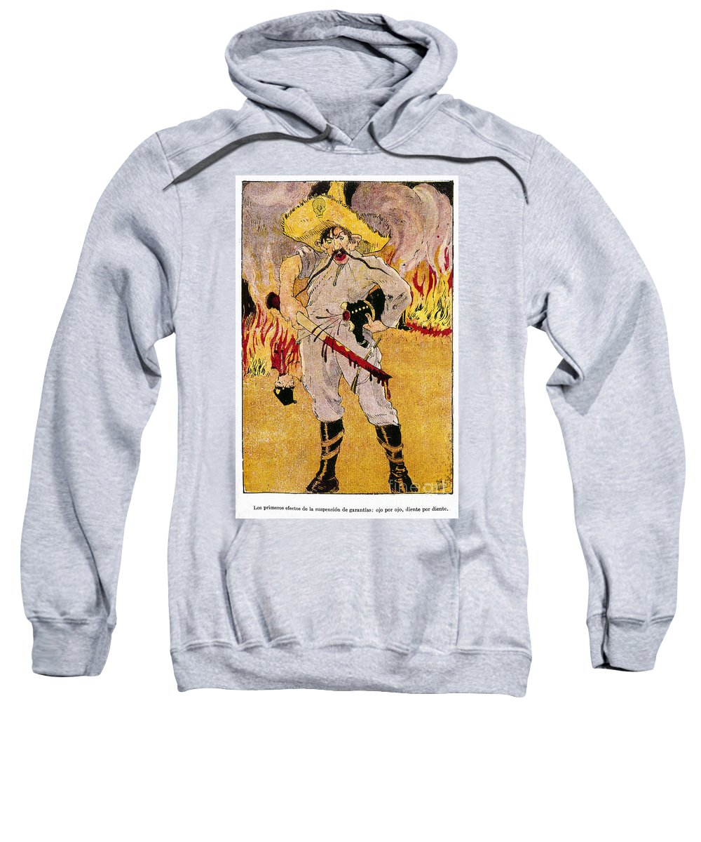 1910s Sweatshirt featuring the painting Mexico: Political Cartoon by Granger