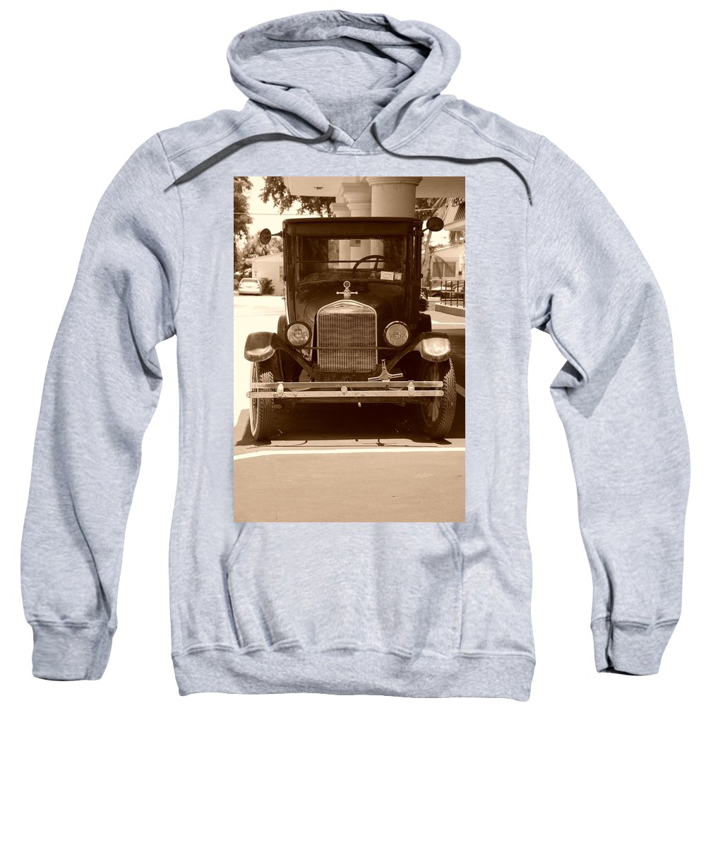 Sepia Sweatshirt featuring the photograph 1926 Model T by Rob Hans