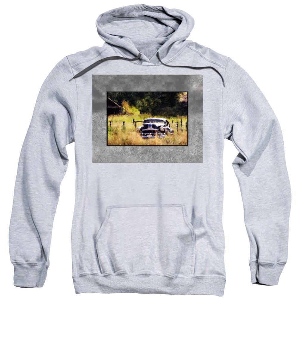 Old Cars Sweatshirt featuring the painting 53 Pontiac by Susan Kinney