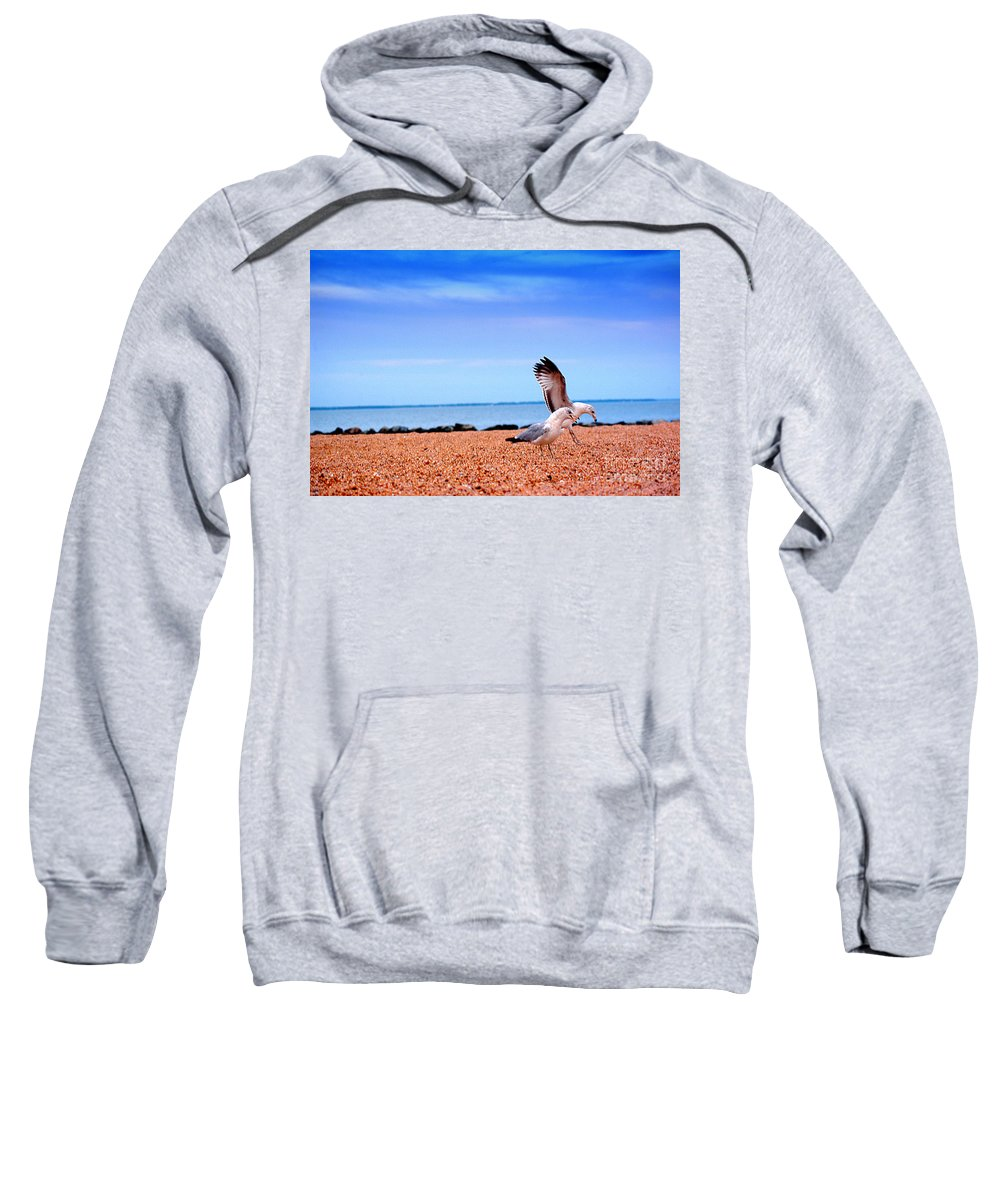 Clay Sweatshirt featuring the photograph A Day At The Beach by Clayton Bruster