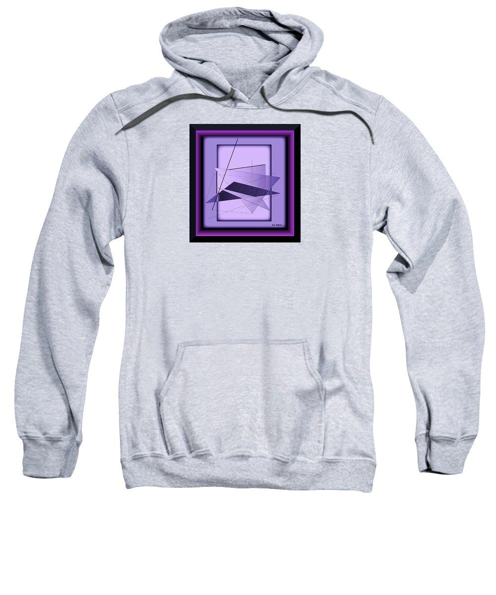 Abstract Sweatshirt featuring the digital art Abstract 549 by Iris Gelbart